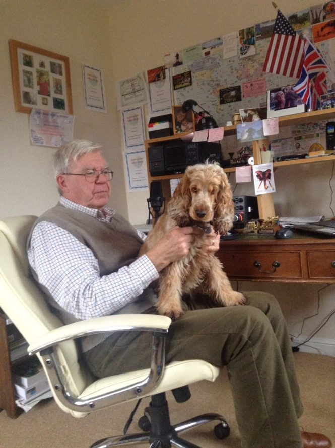 Terry & Daphne the hearing dog.
